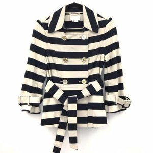 Kate Spade Step Out In Stripes Peacoat Blazer